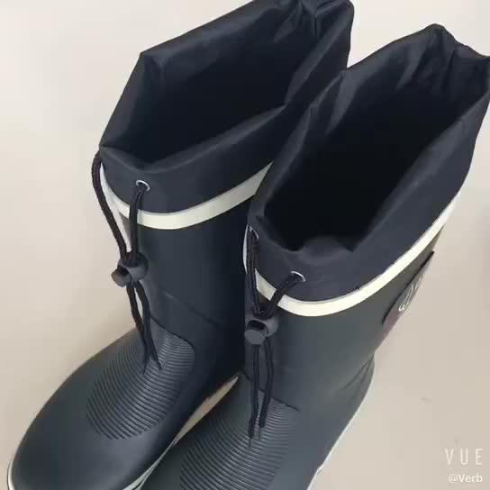 China Wholesale Most Popular Man Or Ladies Custom Logo Rubber  Rain Boots