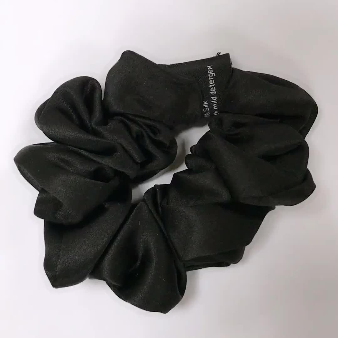 Anti bed head highest grade 6A long fibre silk bands tie hair scrunchies silk