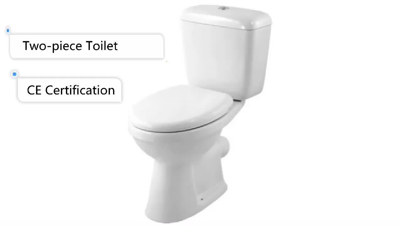 HUIDA ceramic sanitary toilet chinese factory P-trap washdown close-coupled wc toilet