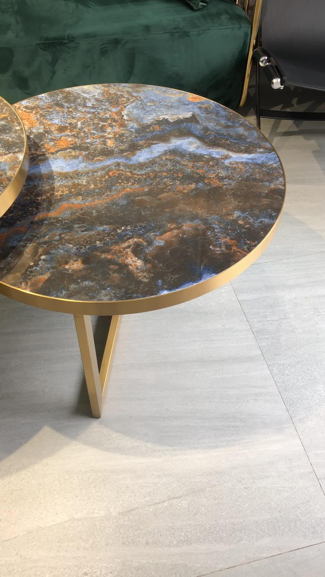 Nordic Italienischen design luxus furniturehotel lobby atmosphäre kombination hohe und niedrigen villa wohnzimmer kaffee tisch set