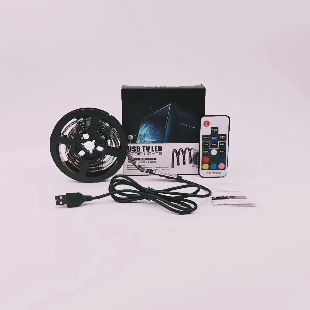 A distanza di Controllo SMD5050 Usb Impermeabile Rgb Ha Condotto La Striscia di Retroilluminazione A Led