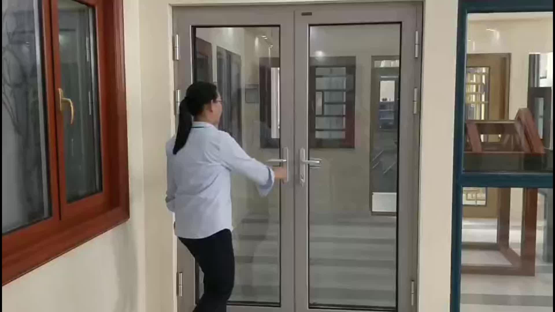 Aluminum Frame Glass Swing Door Residential Entry Doors