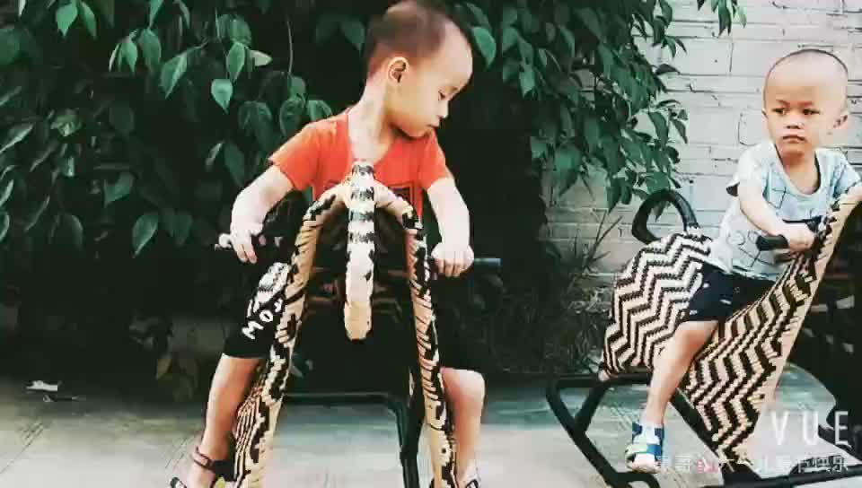High Quality Children's outdoor Rattan rocking horse riding