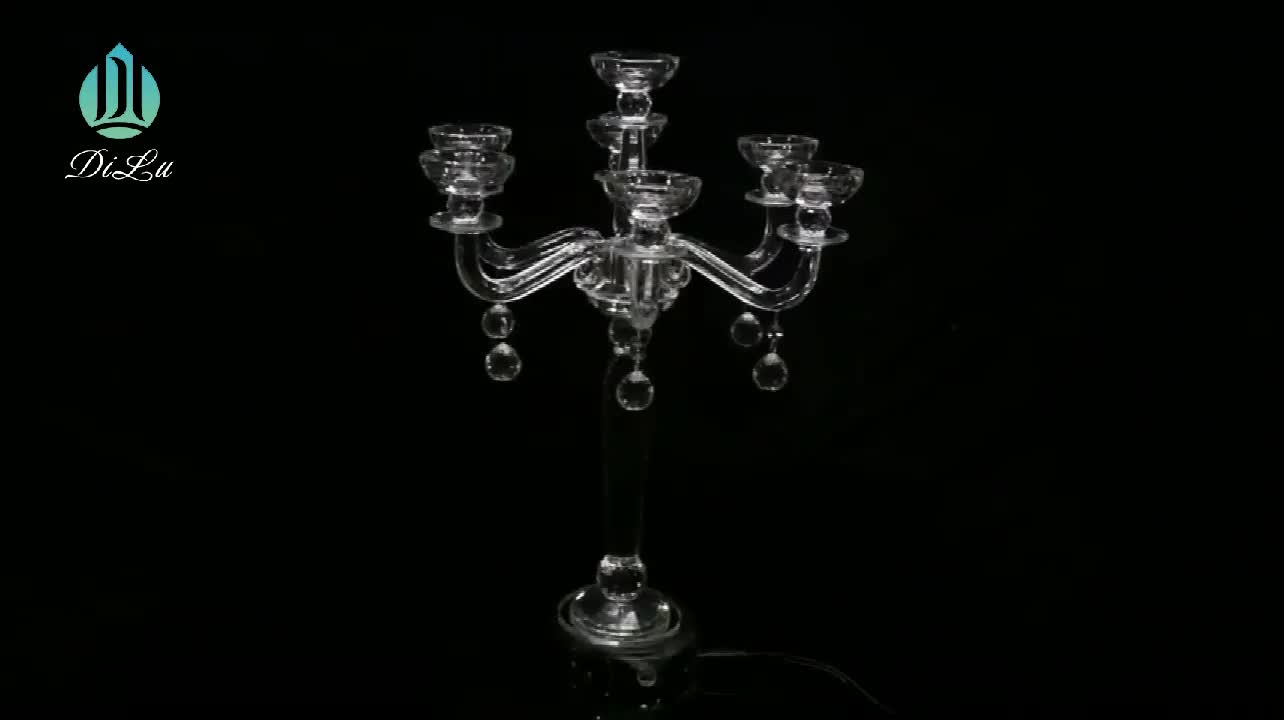 k9 Tall Cylinder Glass tealight Candle Holders Candelabra Candelabrum Candlesticks tealight holder crystal pillar candle stands