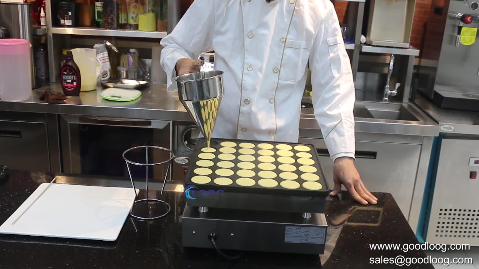 Kommerziellen 36 löcher Mini Pfannkuchen Maker Elektrische Poffertjes Maschine für Verkauf CE Zertifikat