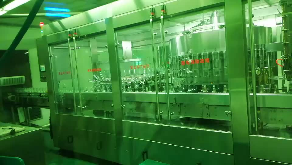 375 ml Automatic beer filling machine glass bottle beer bottling machine carbonated drinks filling machine line