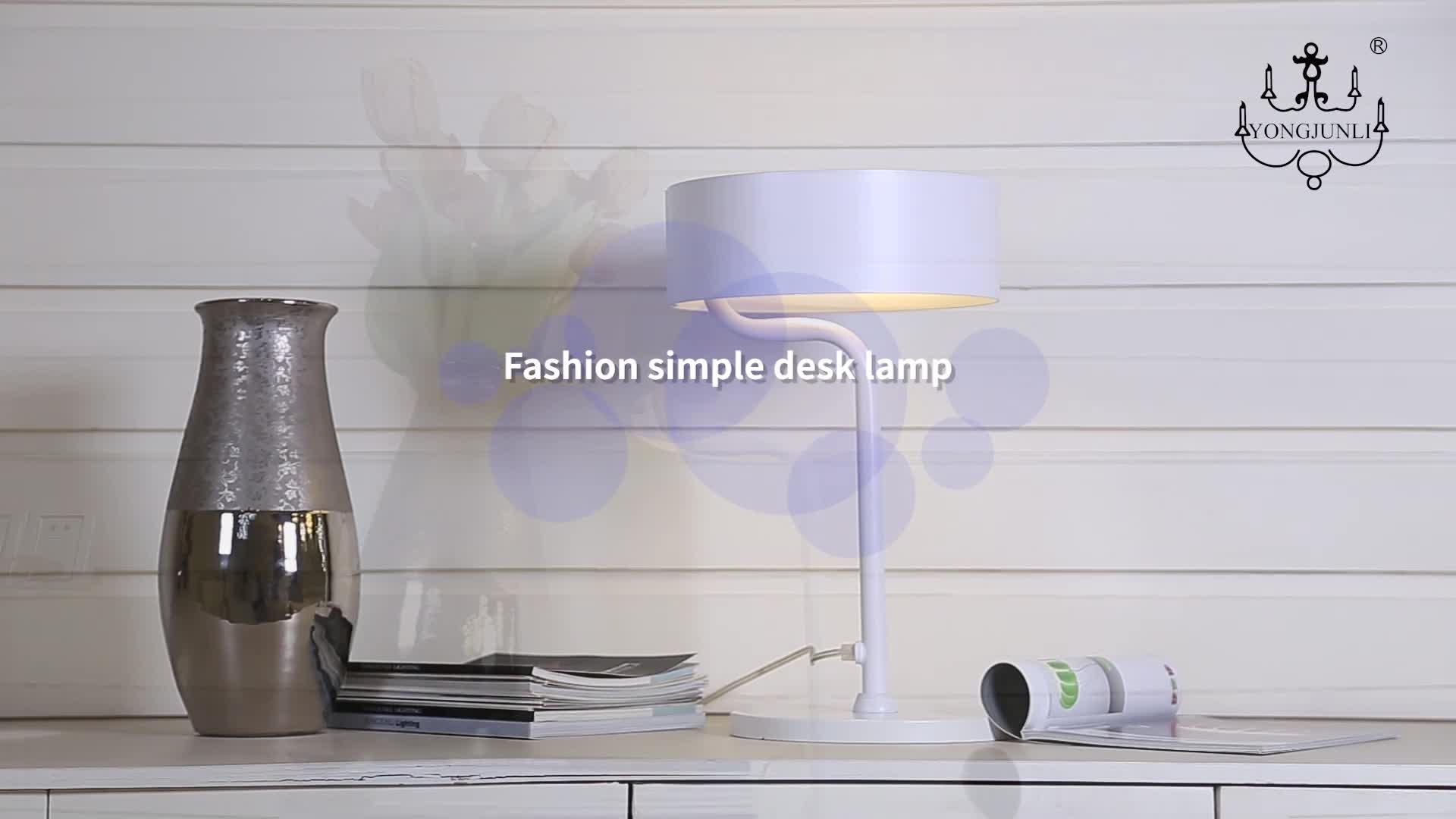 China moderne aluminium runde dekorative licht wohnzimmer schlafzimmer led lesen tisch lampe