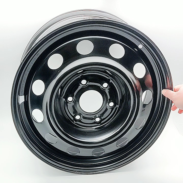 Wheelsky new arrivals factory price 15 Inch 6X139.7 black road wire rims wheels steel