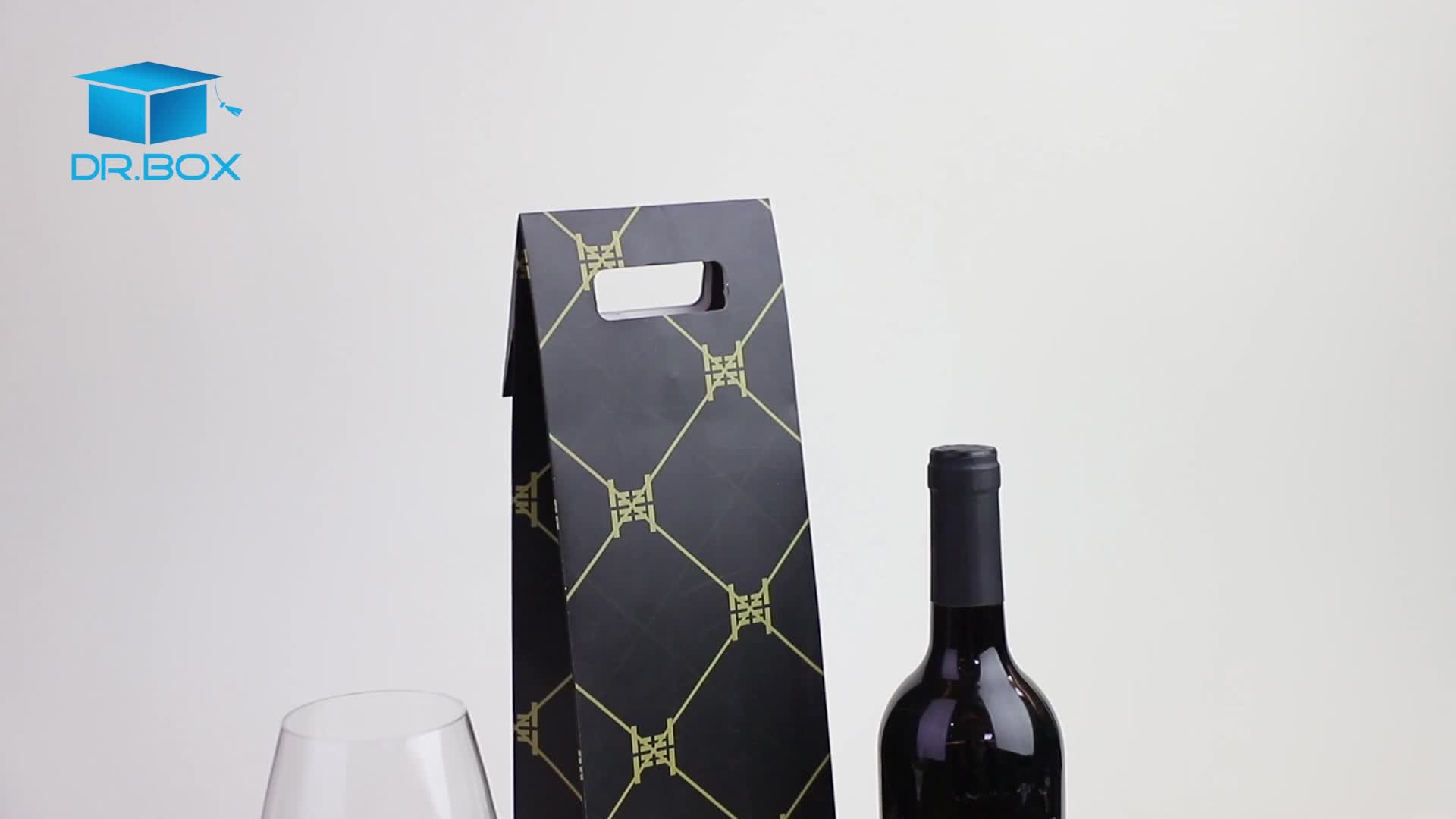 High quality wine bag custom wine paper bag with logo