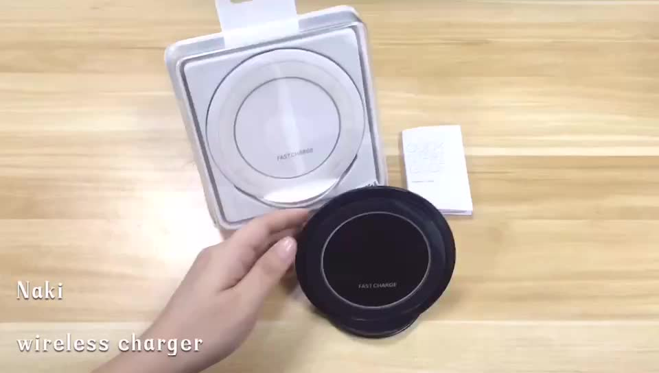 High Quality S7 Fast QI Wireless Charger With quick Charging Phone Charger For Samsung S8 S9 S10 for iphone 8 plus X Xs Xr Max
