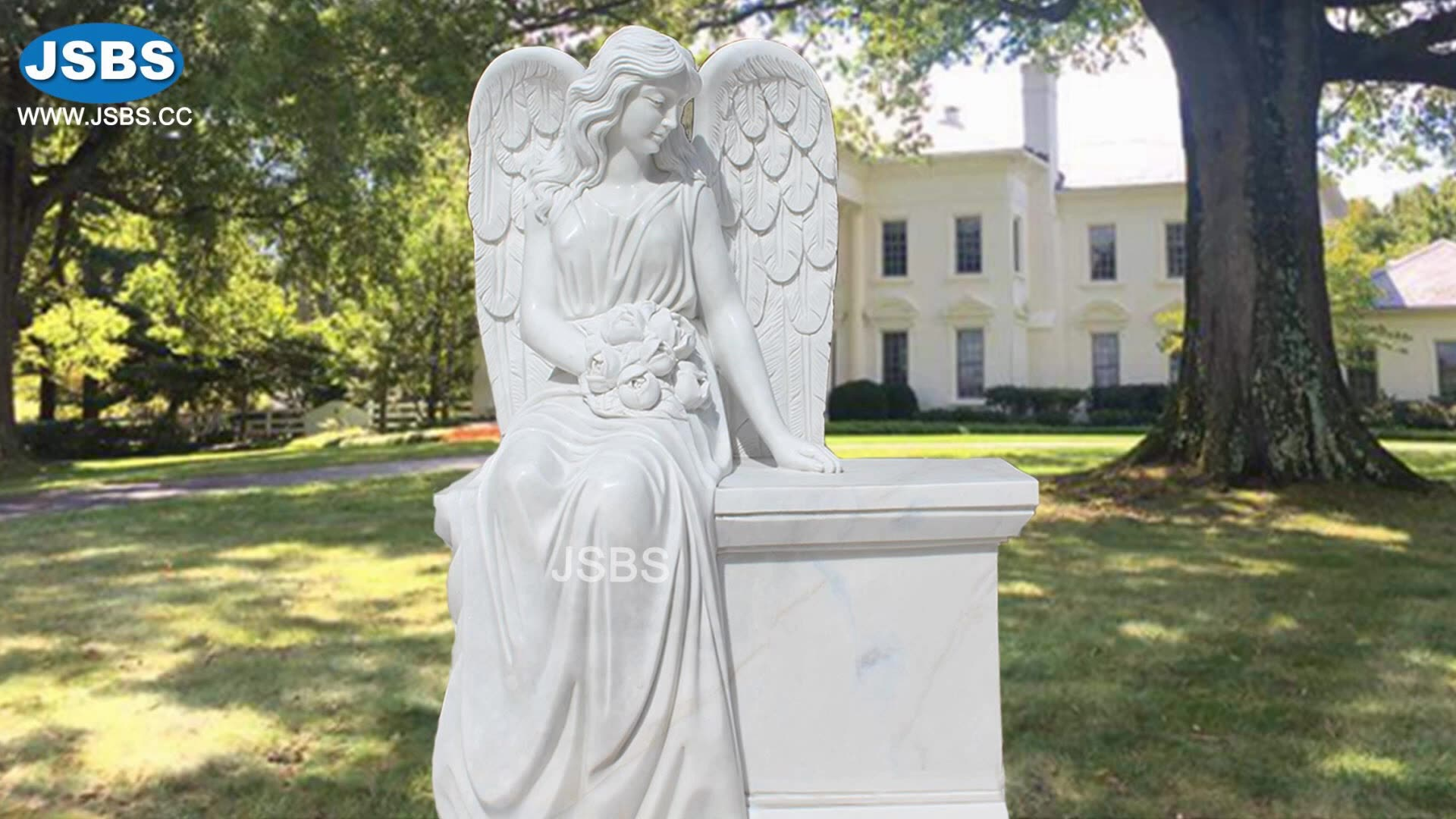 custom made marble grave angel headstone designs