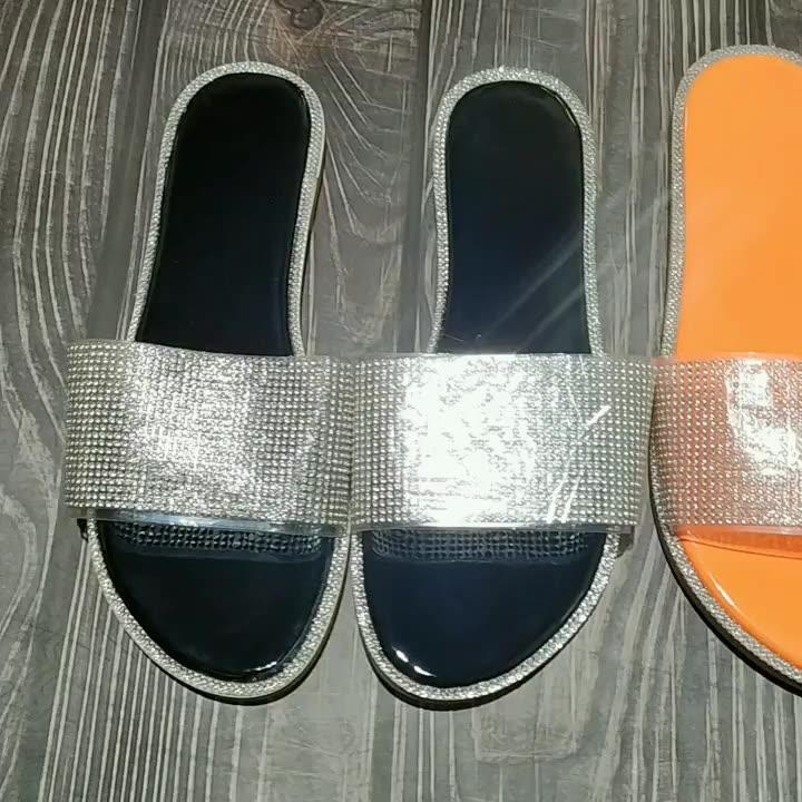 Nuovo Modello di Scarpe Pantofole Delle Donne Della Signora Pantofola Pantofole Amazon Stile Più Recenti Signore Ins Vendita Calda Delle Donne Sandali Piatti
