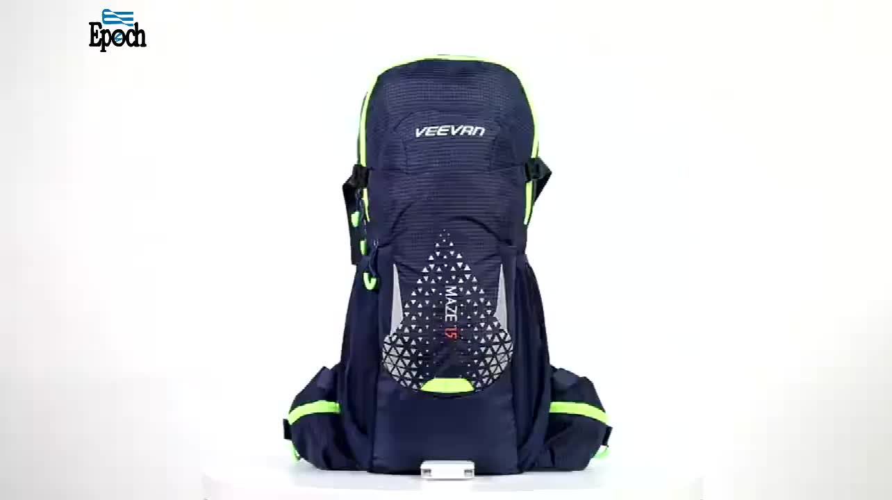 Top quality RPET material travel outdoor 15l hydration backpack with waist belt