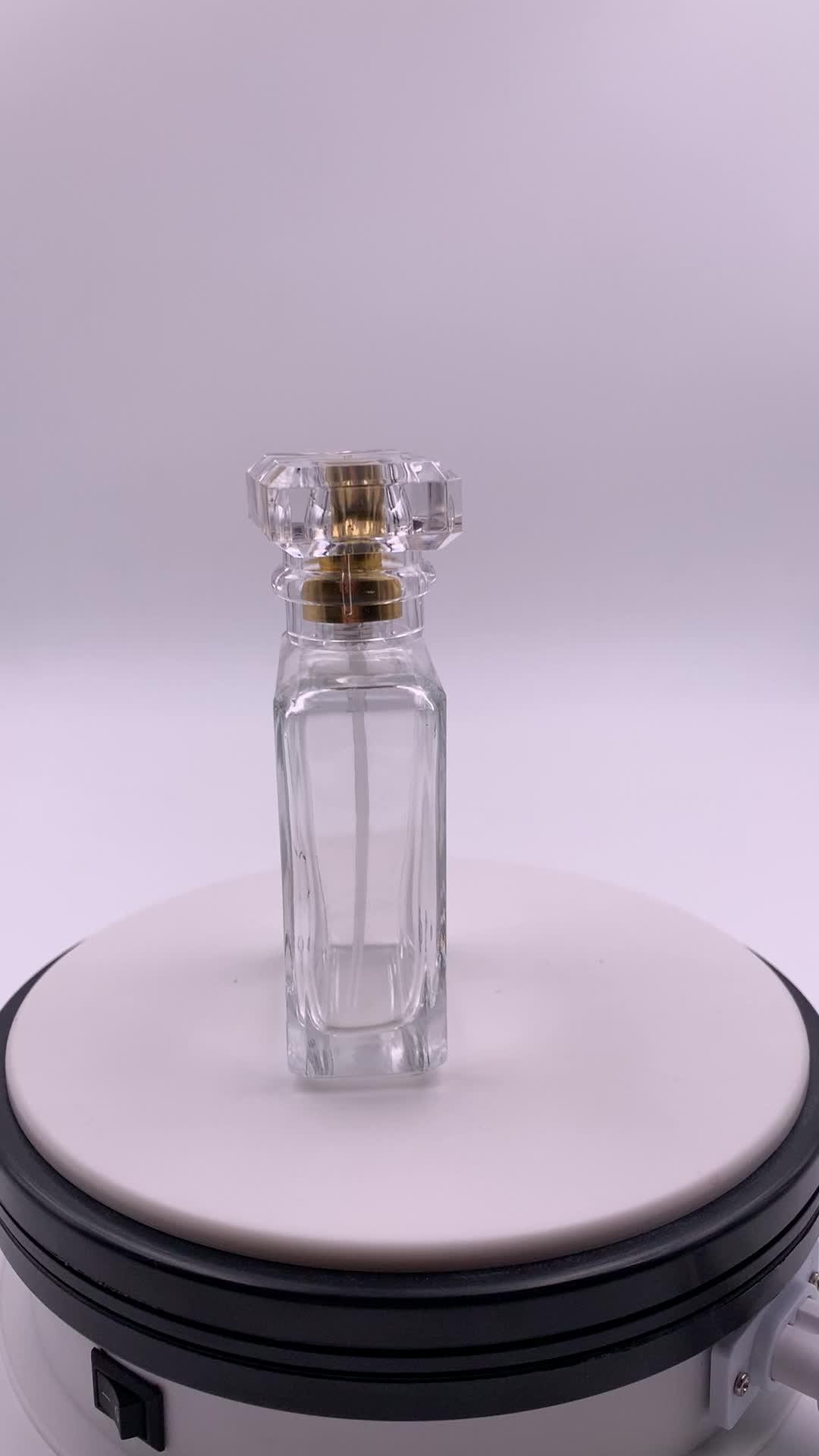 Produsen Transparan Datar Persegi Panjang 200 Ml Kosong Kaca Botol Parfum