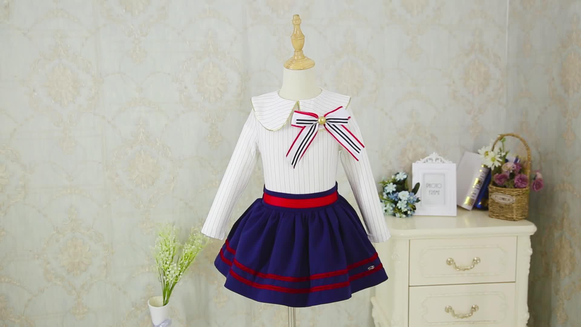 Pettigirl デザイナーベビーガールのドレス子供ファッション長袖スカート