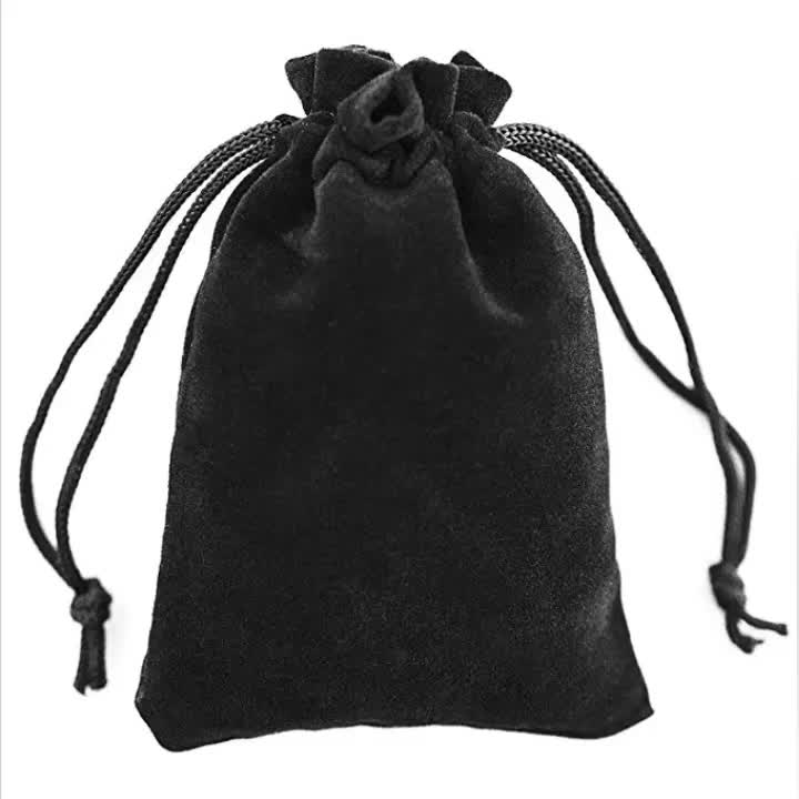 Wholesale Two Pull Drawstring Pouch Bag for Jewellery Ring Earing