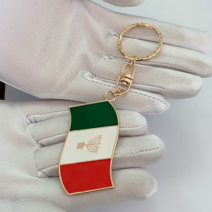 High Quality Zinc Alloy Custom logo tag  Silver Metal Keychain for bag