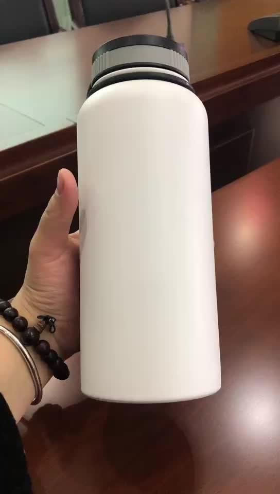 32 UNZEN Breiten Mund 600/750ml doppel wand 18/8 edelstahl isolierte/vakuum/thermische sport wasser flasche 18 unzen 16 unzen 12 unzen 14 unzen