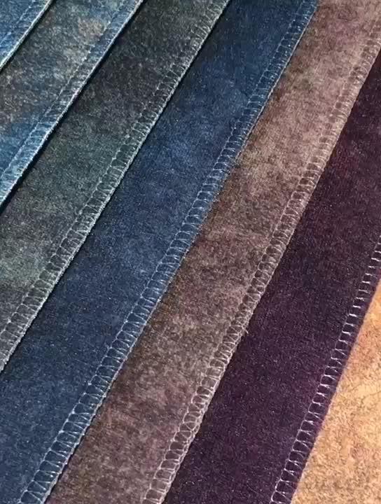 Novel design furniture microfiber super soft sofa velvet fabric in 100 polyester