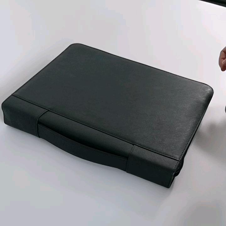 이그제큐티브 지퍼 iPad 홀더 가죽 문서 주최자 일정/포트폴리오 파일 폴더 편지 크기의 메모장 포켓