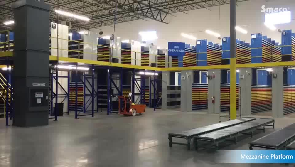 Logistics Automation Handling Warehouse Storage Mezzanine Floor&Platform