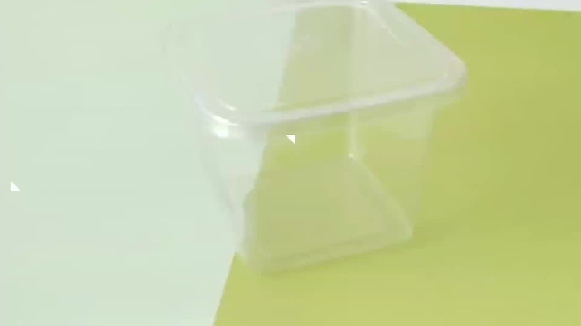 Accept custom clear food takeout box plastic cup salad takeaway box Jelly Biscuits packaging pet plastic box ice cream cup