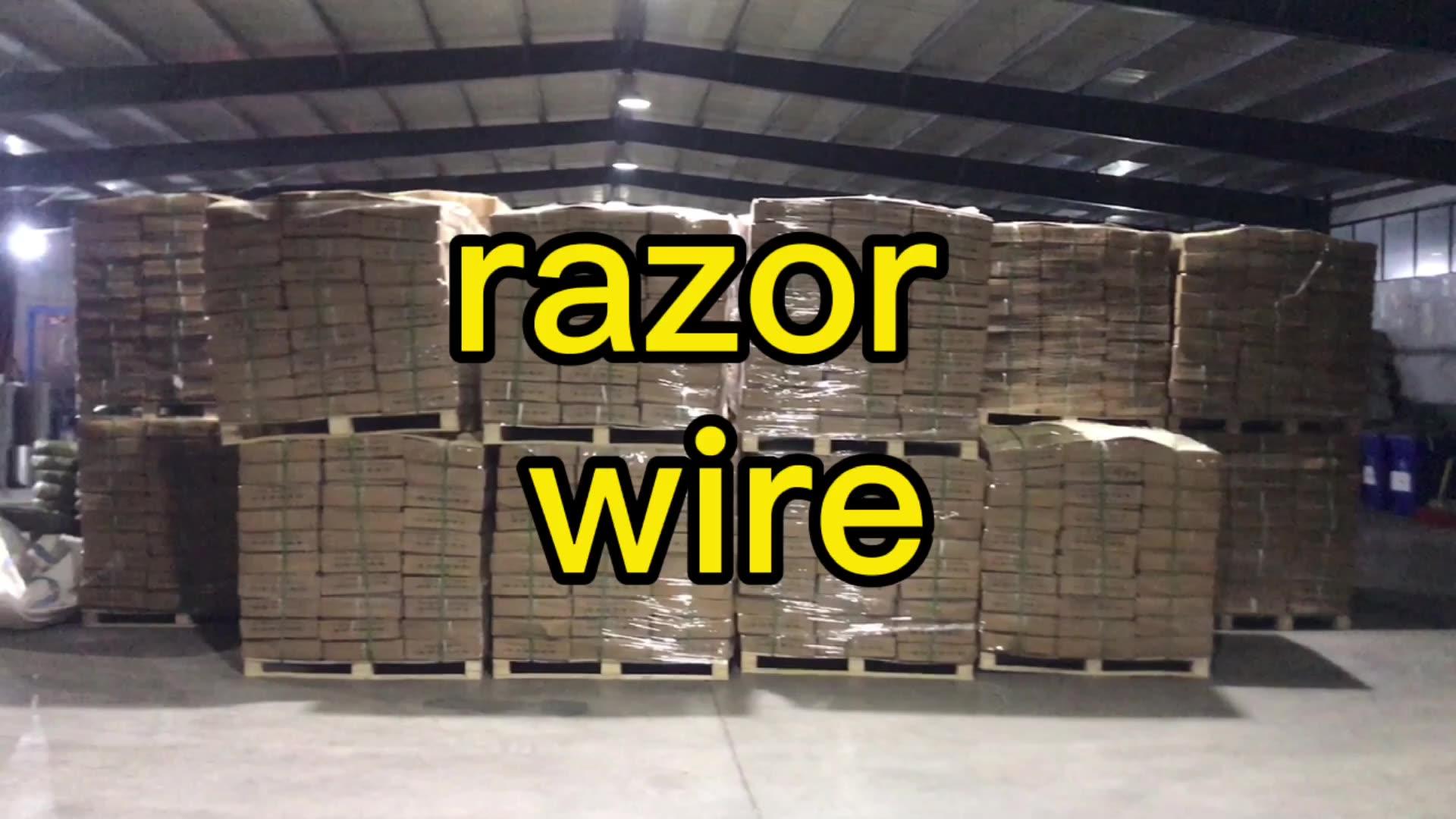 galvanized razor concertina wire 450mm/10kg/10m