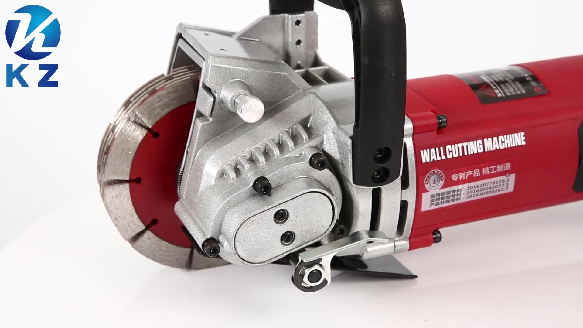 Máquina de ranurado y ranurado de pared de ladrillos de hormigón cincel de corte ranurado máquina de ranurado de pared herramientas eléctricas