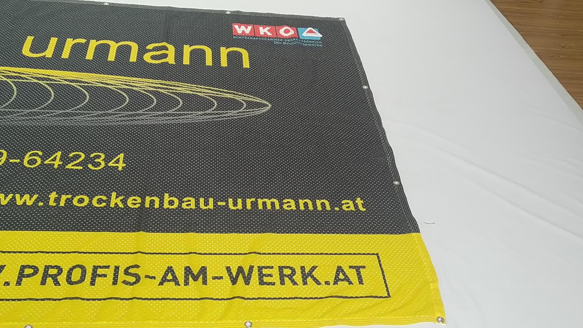 Textile outdoor Printed Fence Mesh Banner Perforated coated banner fabric banners