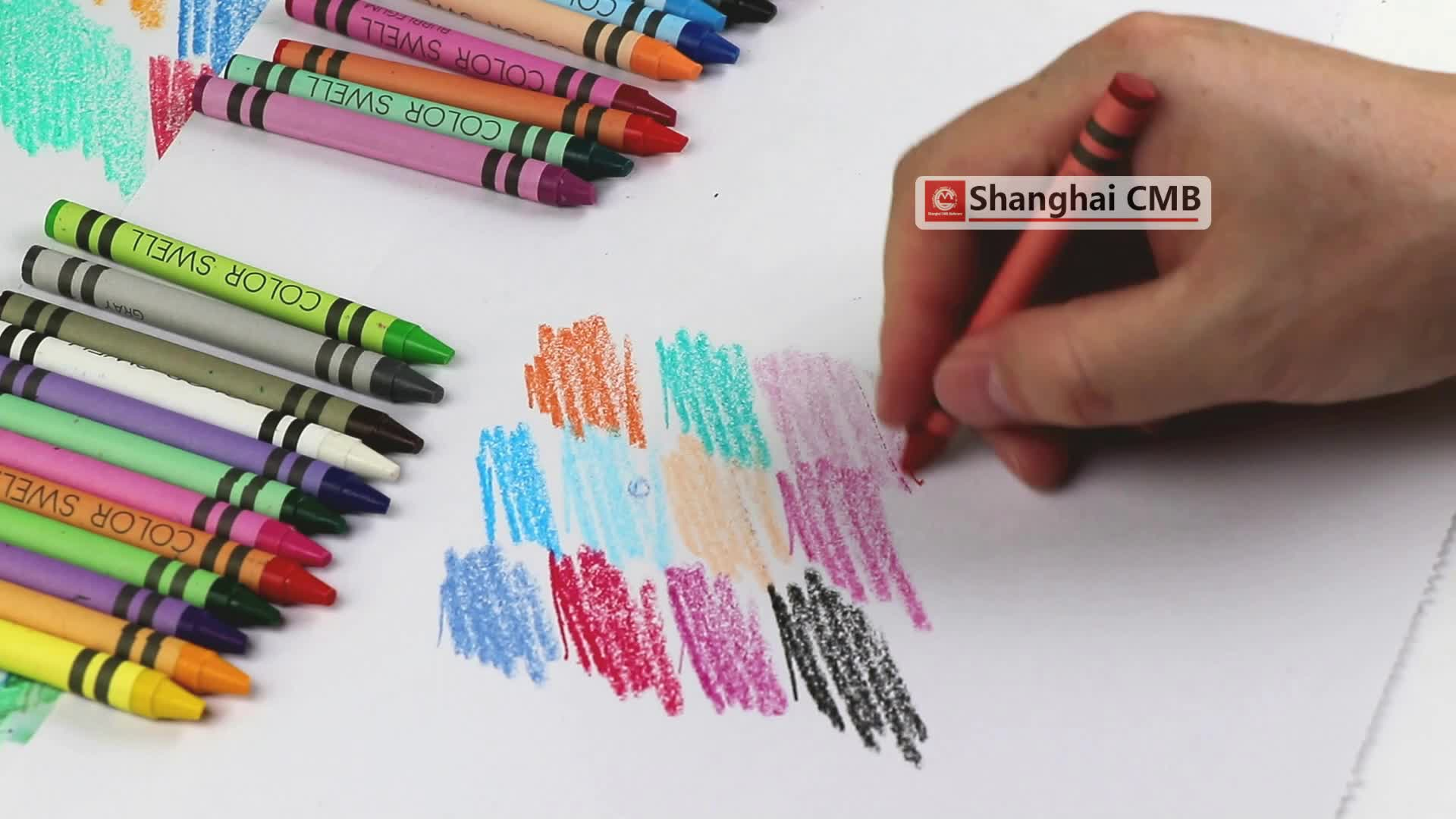 48แพ็คกล่องสีขี้ผึ้งดินสอ