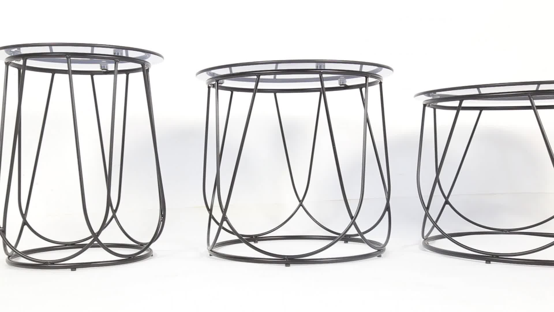 hot Living Room Furniture SANQIANG Modern style home accent metal wire side coffee table/network wire base coffee table