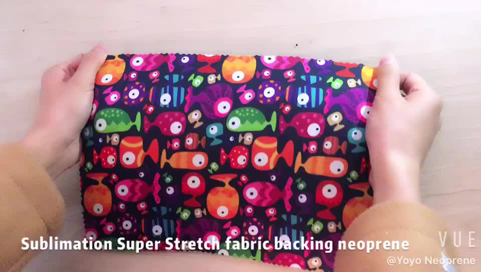 Custom neoprene sheet 3mm 5mm fabric to sublimate, wetsuit sublimation printed neoprene fabric sheet material