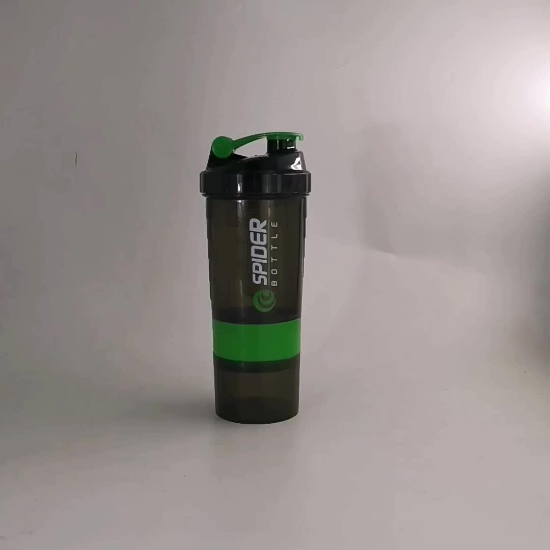 Sport en plastique SANS BPA bouteilles shaker protéines filtre