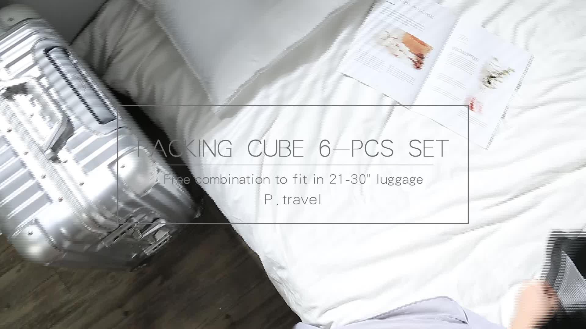 P. reizen Waterdicht 6 stuks Verpakking Cubes Reizen Bagage Organizer