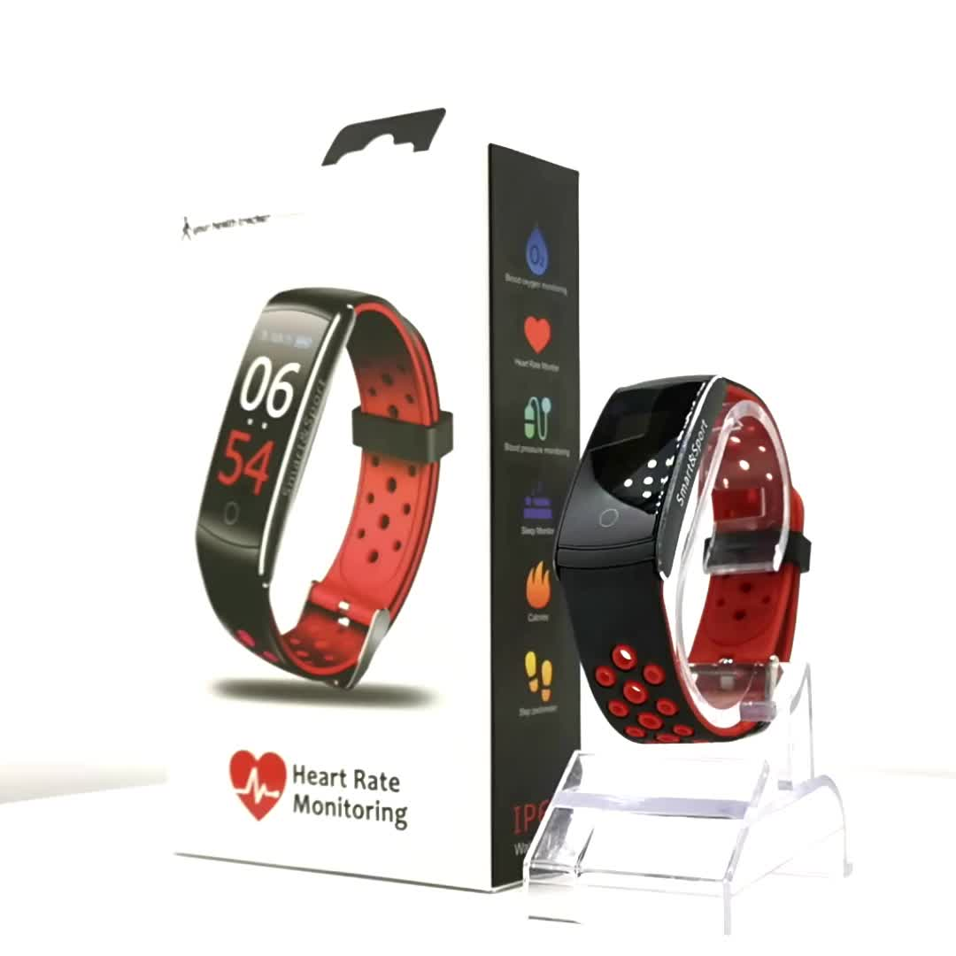 2019 Best sell colorful screen blood pressure magnetic ce rohs smart fitness bracelet Q8S,fitness watch tracker waterproof Q8S