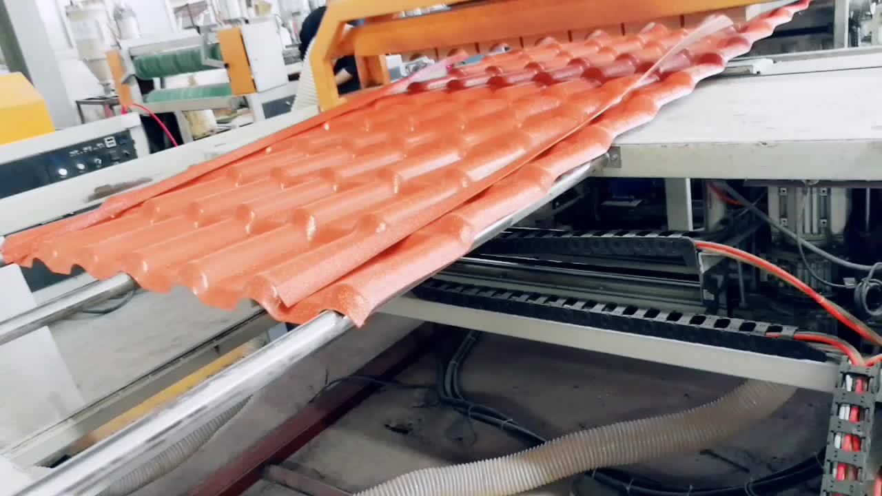 Residential and industrial synthetic resin plastic roofing tile APVC roofing sheet for sale