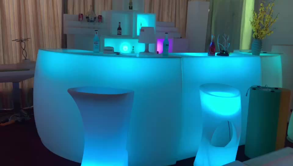 2019 High quality waterproof Bar furniture lighted LED counter for party