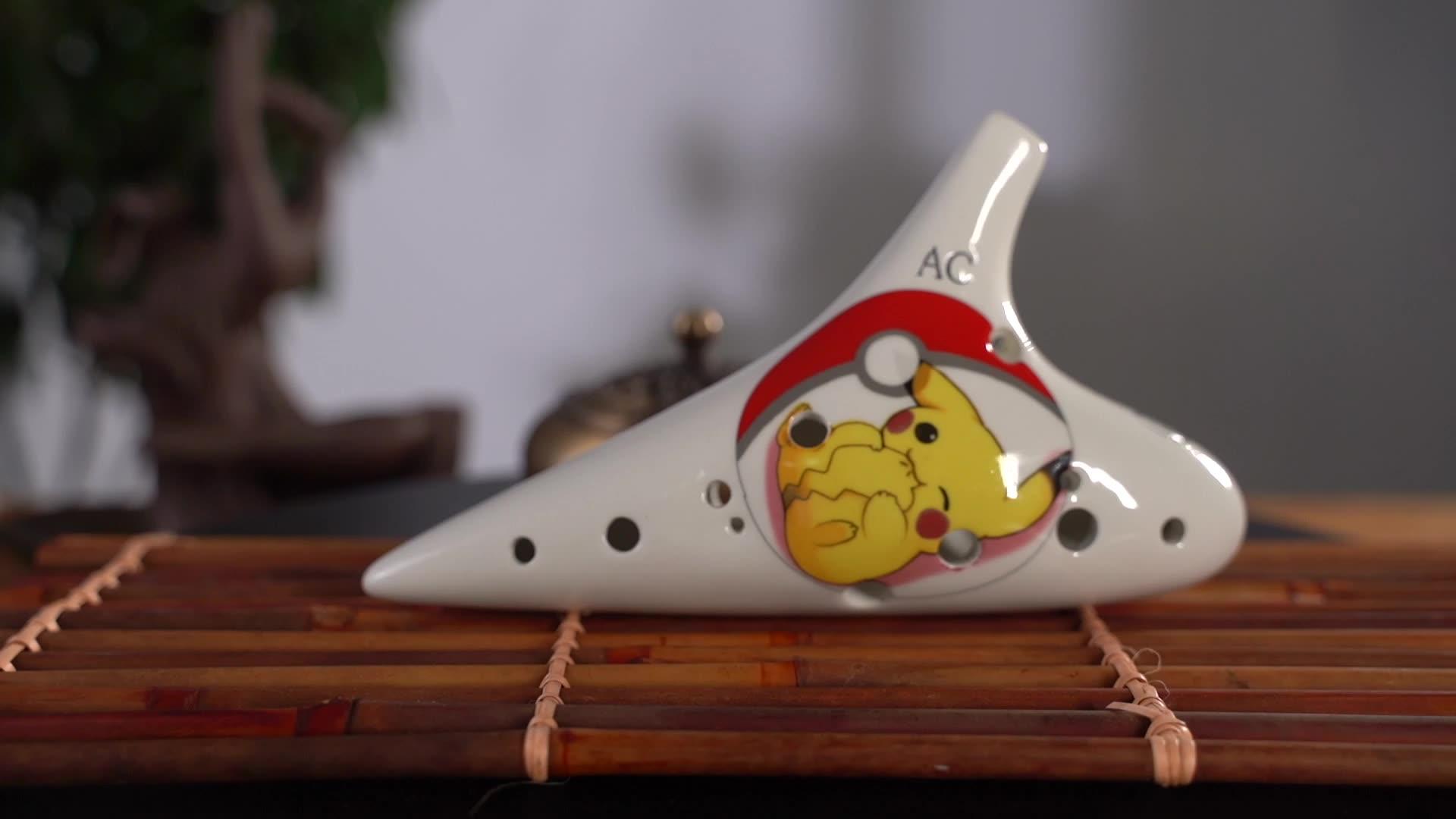 Cerâmica ocarina produção fabricante atacado 12 buraco cerâmica flauta Iniciante instrumento