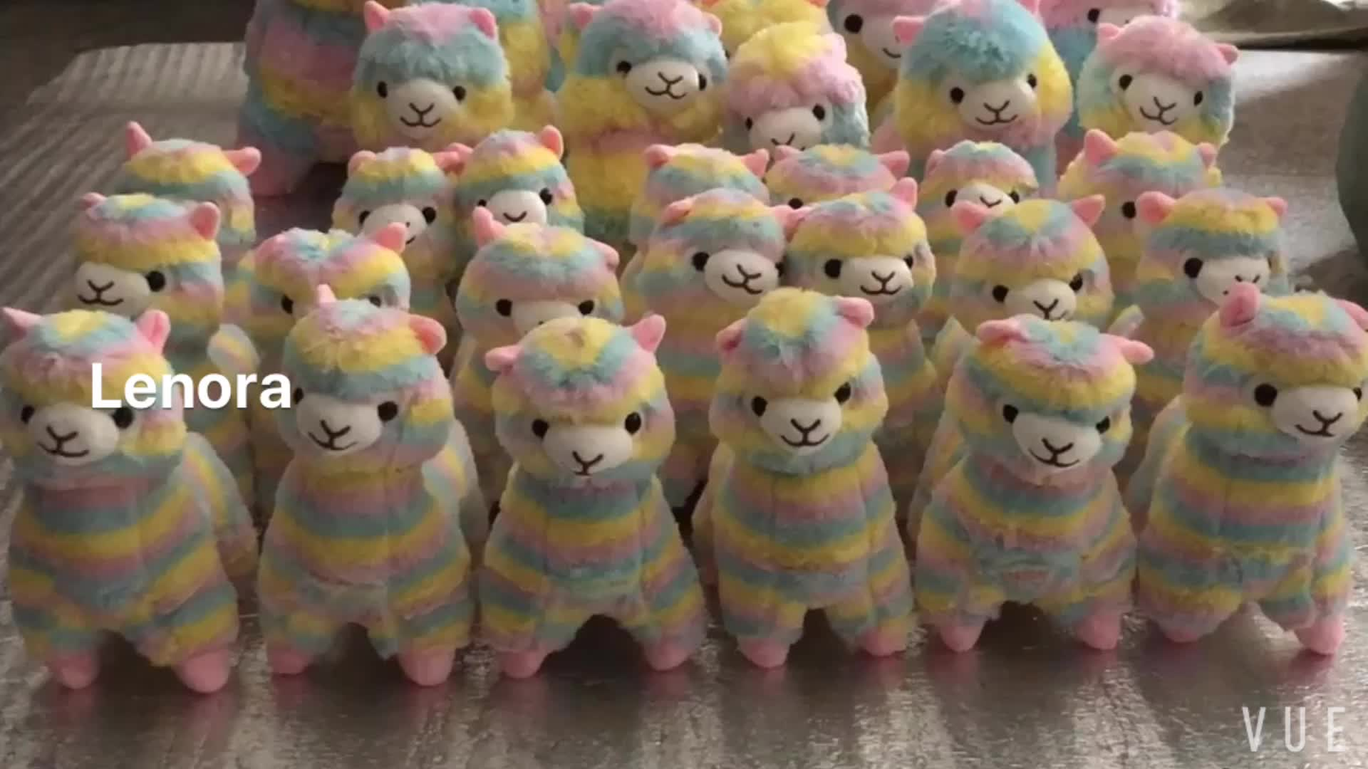 Promotional cute kawaii plush soft toy keychain for phone Custom made toy alpaca animal keychains with bell