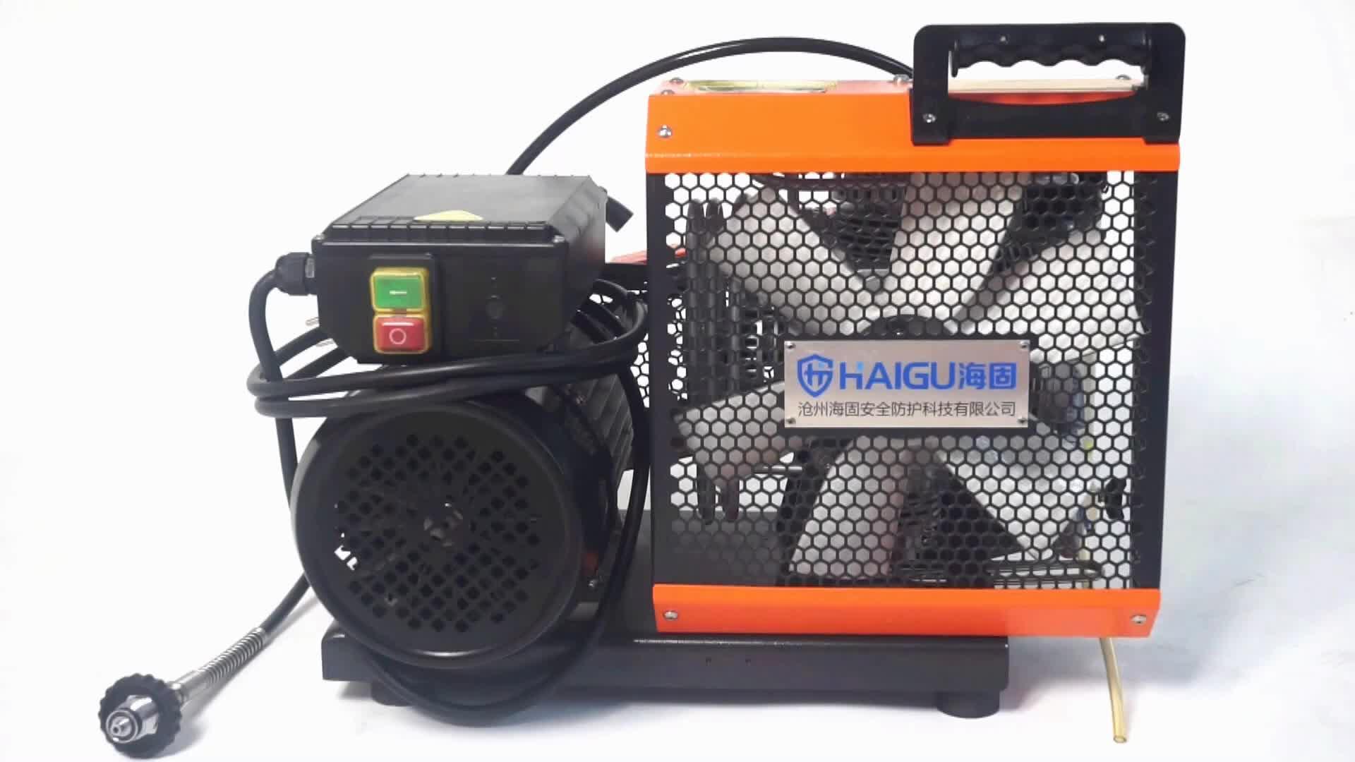 100 בר גבוהה לחץ אוויר משאבת הטוב ביותר מחיר 380 v קטן נייד אוויר מדחס
