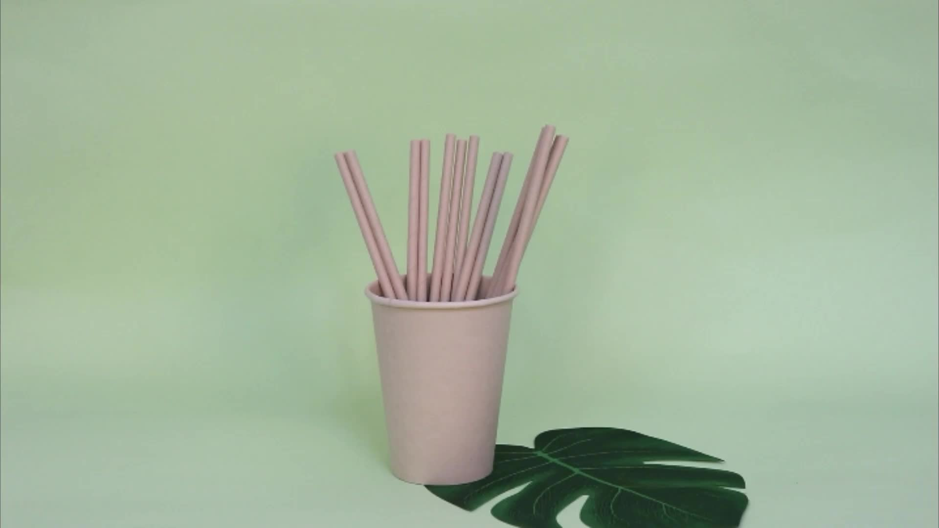 FSC Disposable Biodegradable Drinking Paper Ecological Bamboo Paper Straw