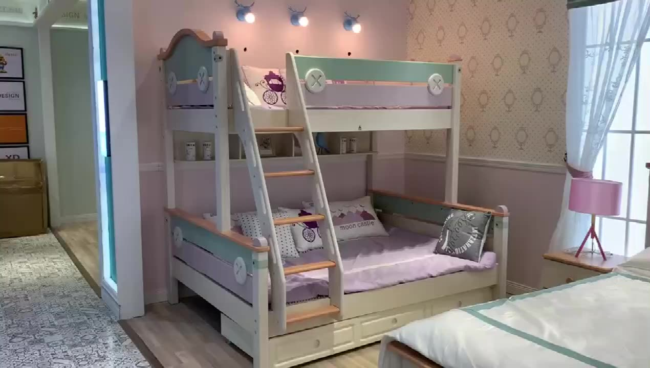 Children Furniture Sets Bed Wooden Bunk Bed For Kids