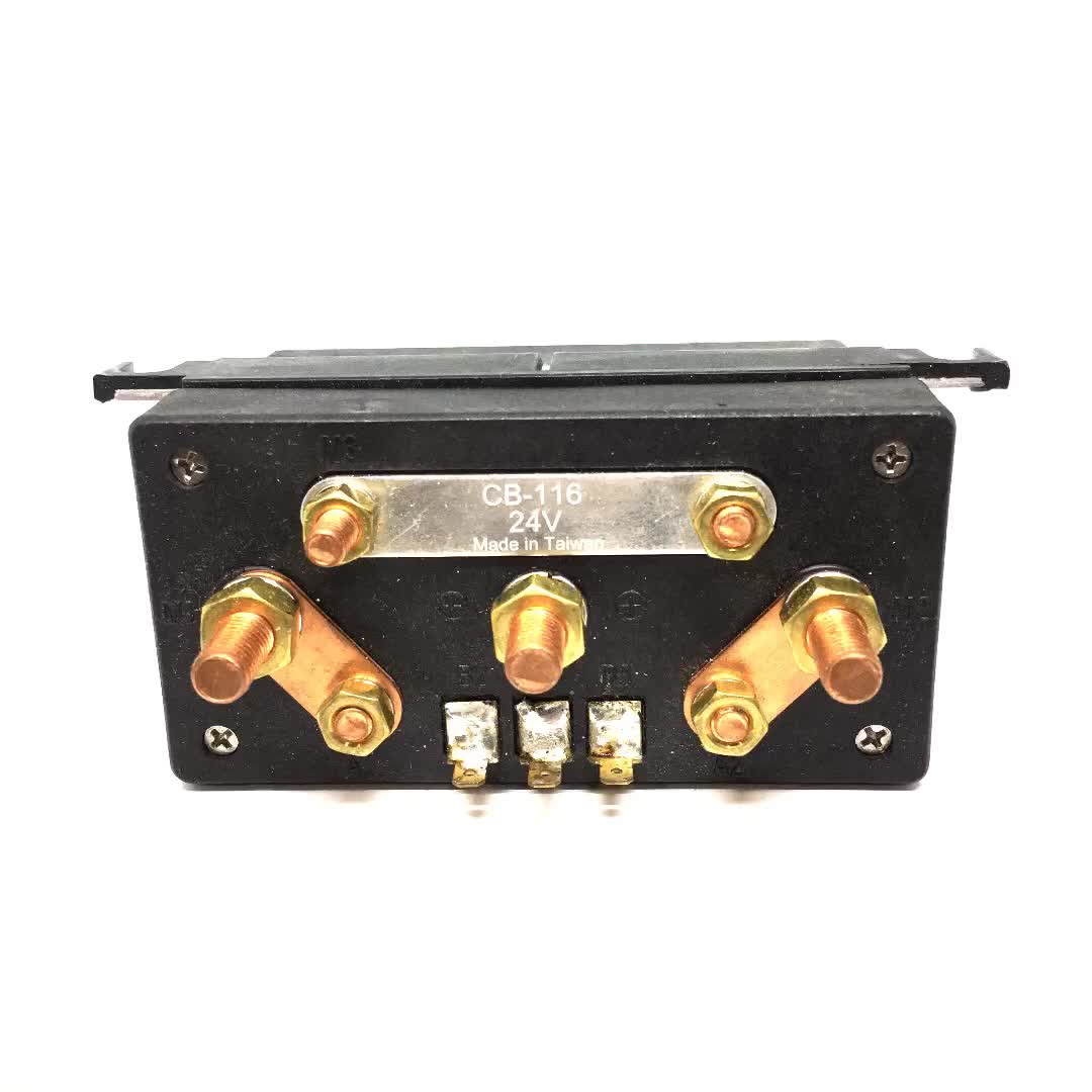 CB-116 12V/24V Starter Solenoid Switch Control Box for motor size 700/1500w for engine with outlet: 3 cables