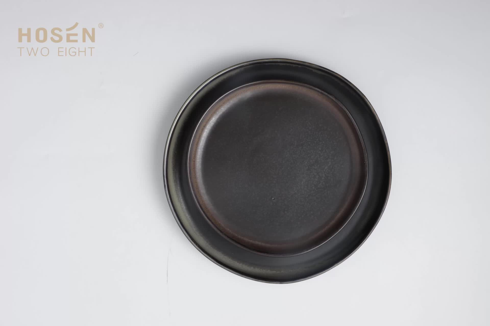 Chaozhou Manufacturer New Trend Ceramic Porcelain Dinner Chargers Plate Sets