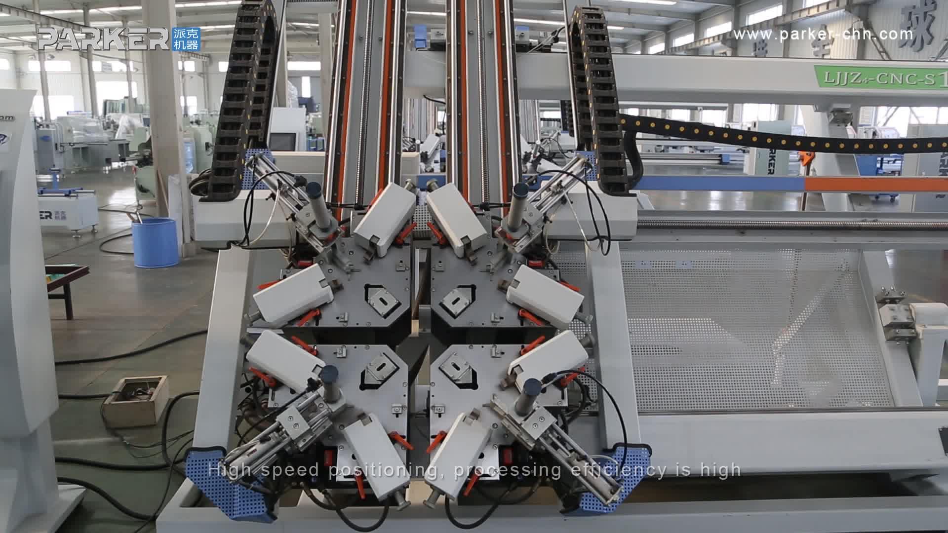 CE Belgeli Alüminyum Kapı Pencere CNC 4 Köşe Sıkma Makinesi