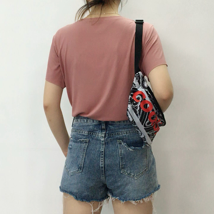 white camo red fashion lady travel sport running custom fanny pack waist bag wholesale