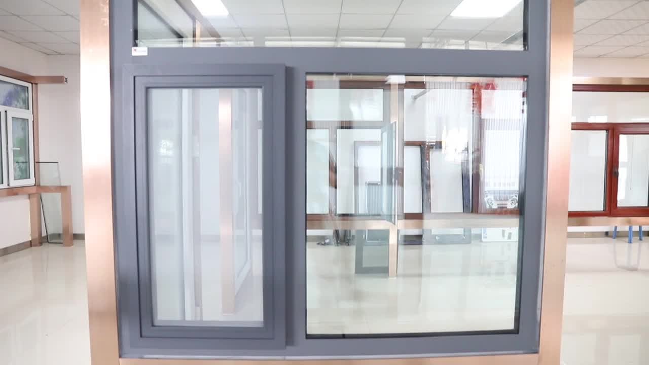 Aluminum outward residential opening windows with mosquito net