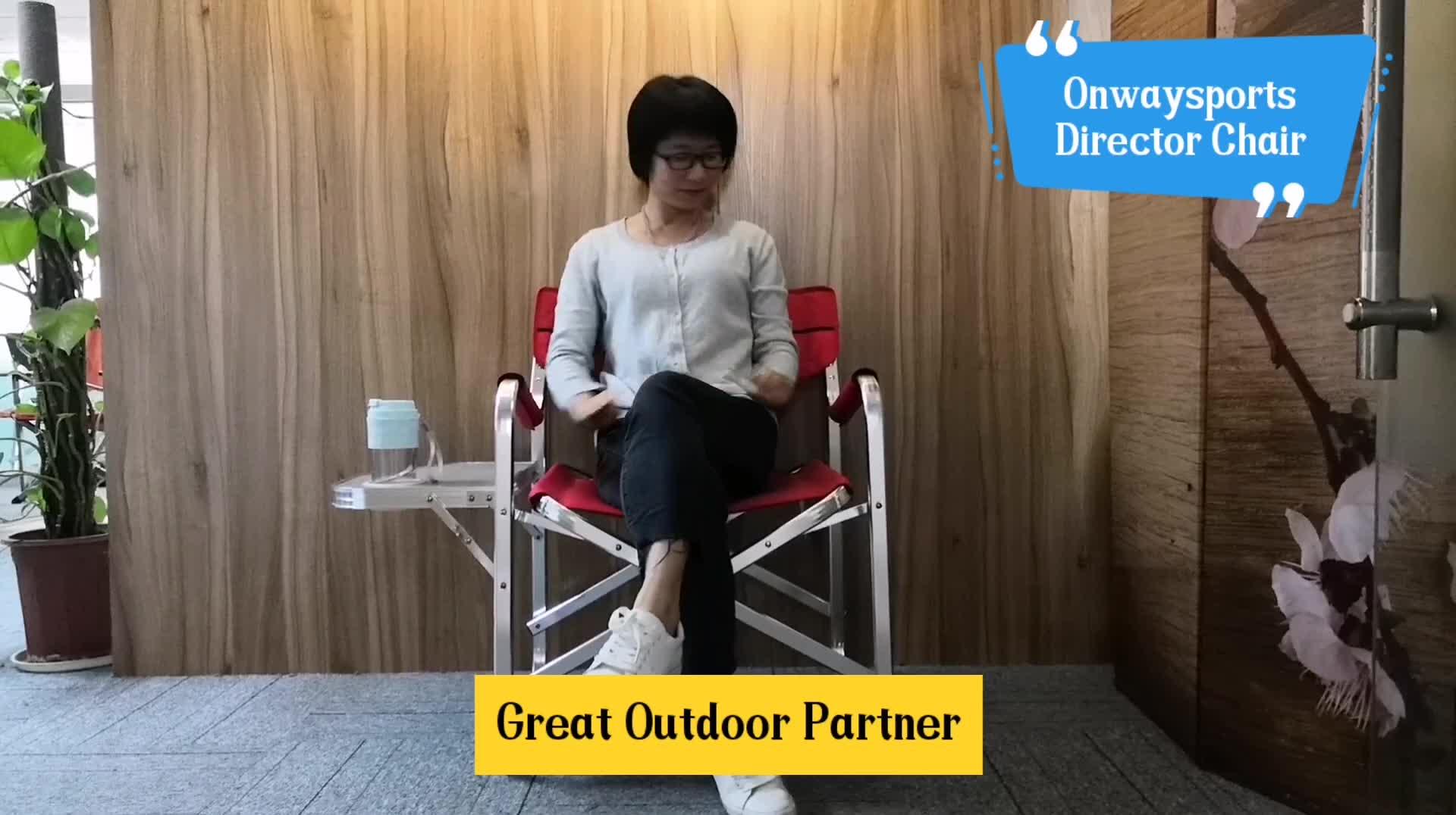 Onwaysports Wholesale China 경량 접는 캠핑 자 OW-N65T-BK