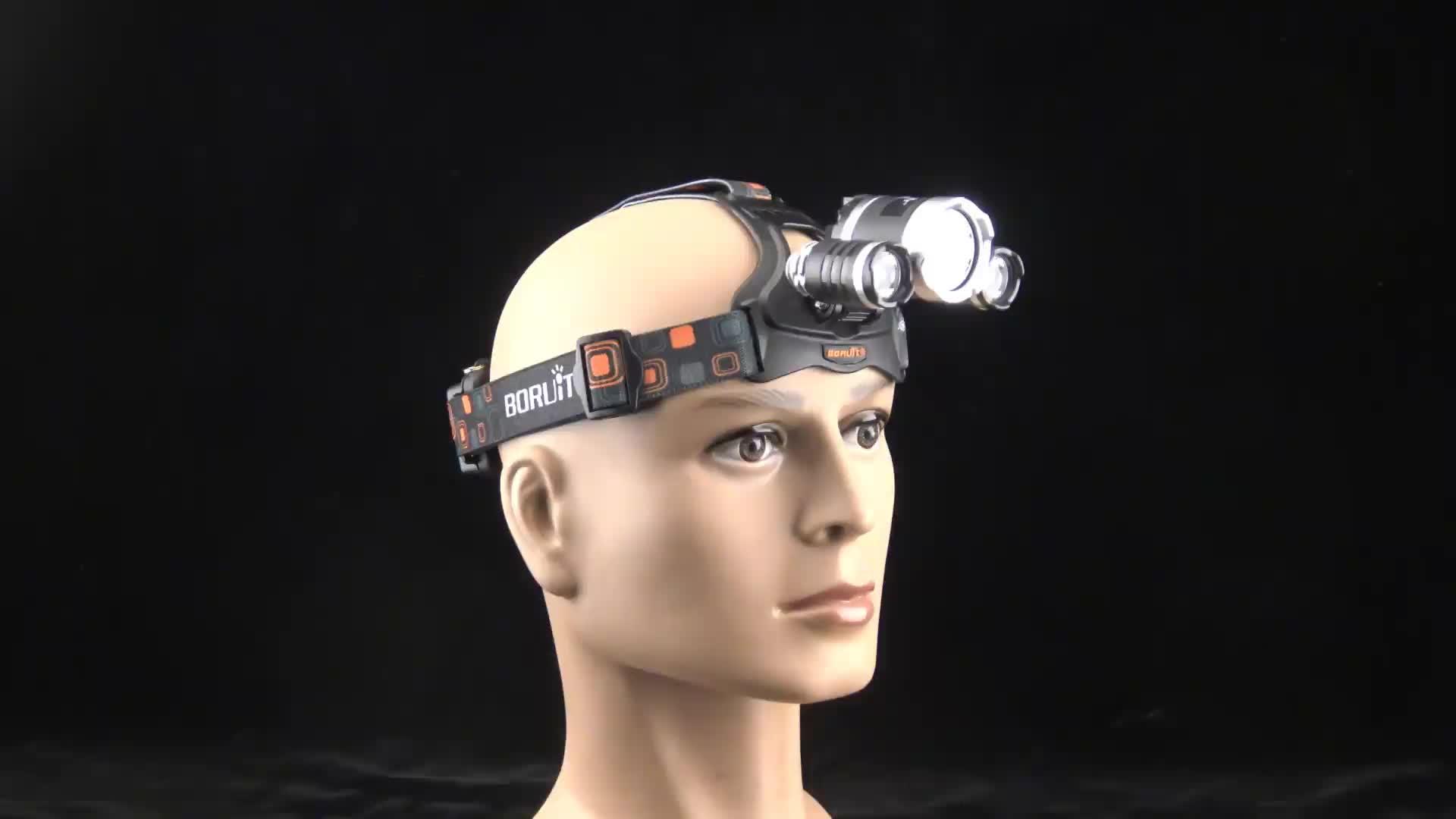 Tochas de Cabeça recarregável USB luz L2 Flash LED Cabeça Lâmpadas High Power Zoom Farol para a Caça