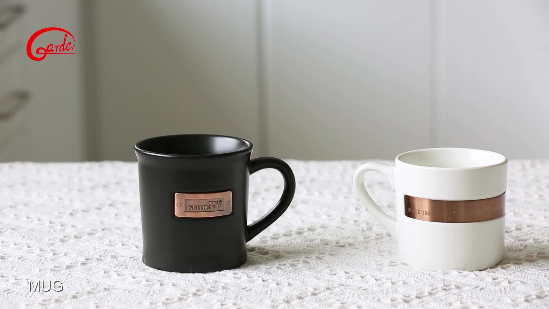 Nhà máy matte kích thước tùy chỉnh cốc cà phê với in logo